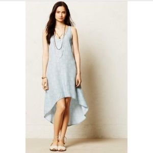 Anthropologie Cloth & Stone Chambray Dress Sz XS